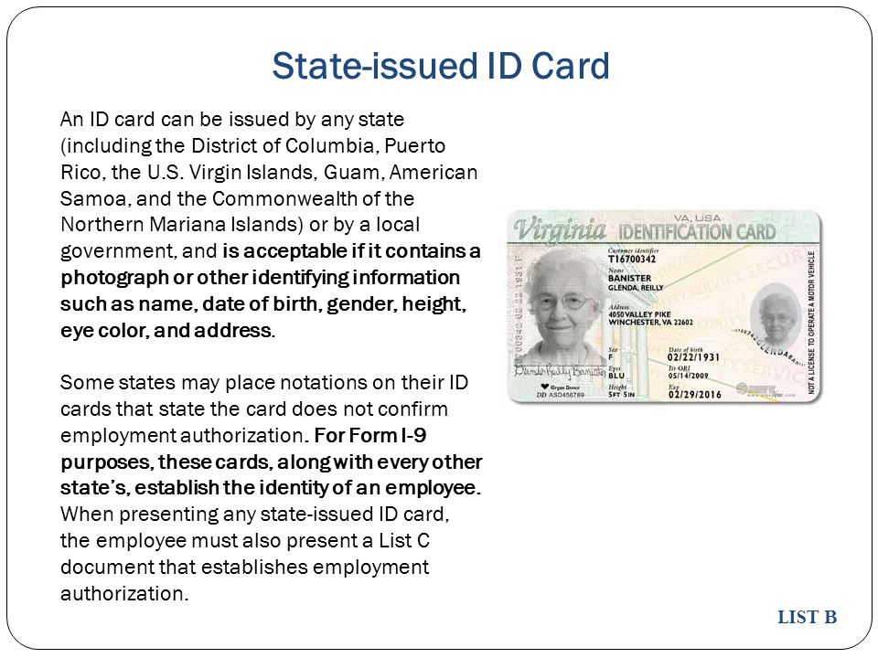 State-issued ID Card