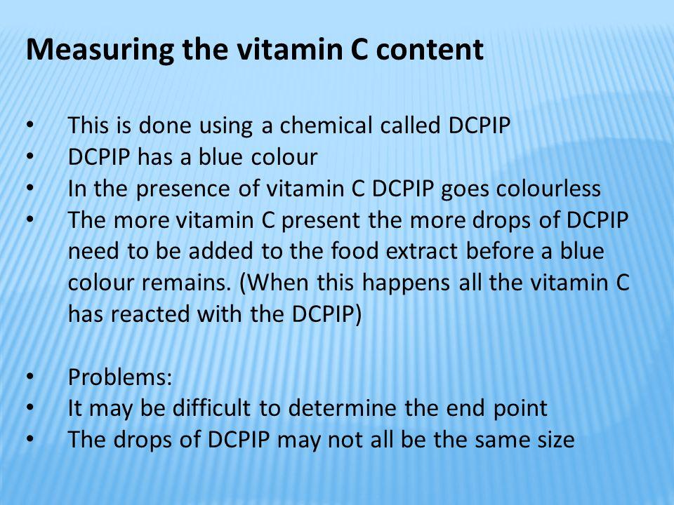 Measuring the vitamin C content