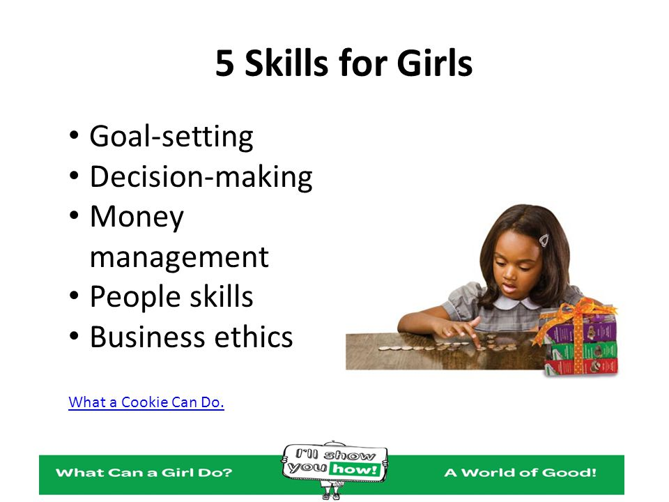 5 Skills for Girls Goal-setting Decision-making Money management