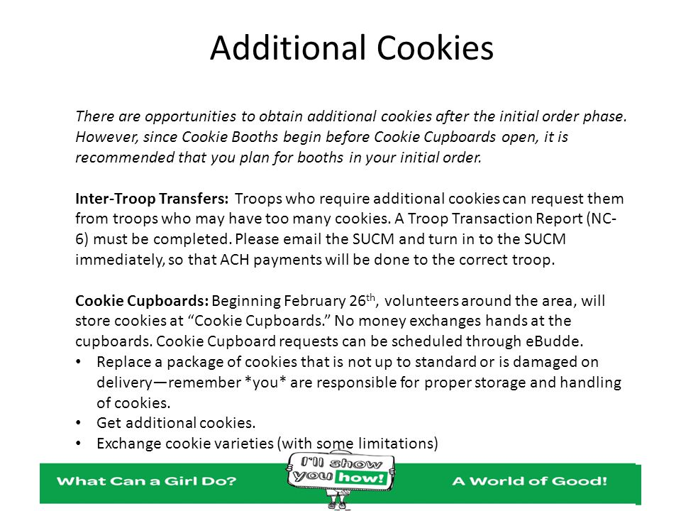 Additional Cookies