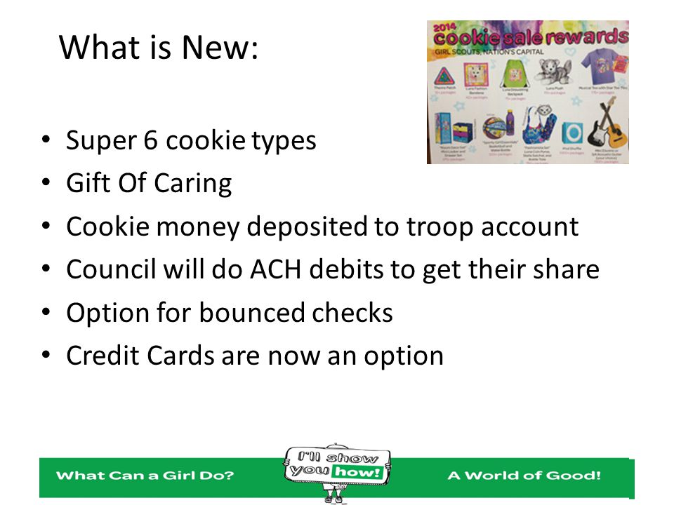 What is New: Super 6 cookie types Gift Of Caring