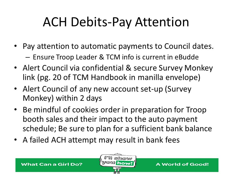 ACH Debits-Pay Attention
