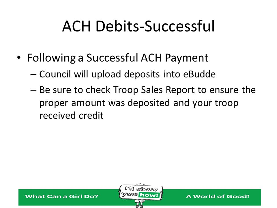 ACH Debits-Successful
