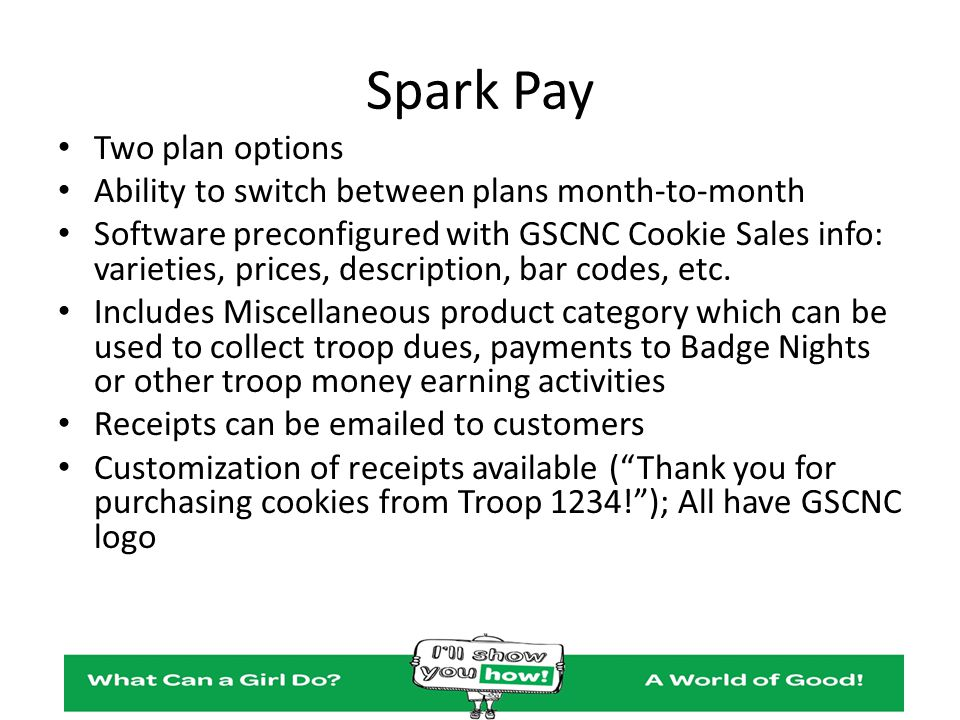 Spark Pay Two plan options