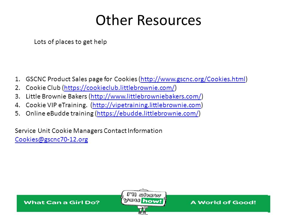 Other Resources Lots of places to get help