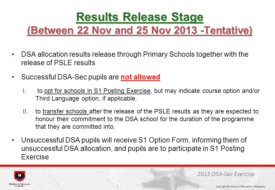 Results Release Stage (Between 22 Nov and 25 Nov 2013 -Tentative)