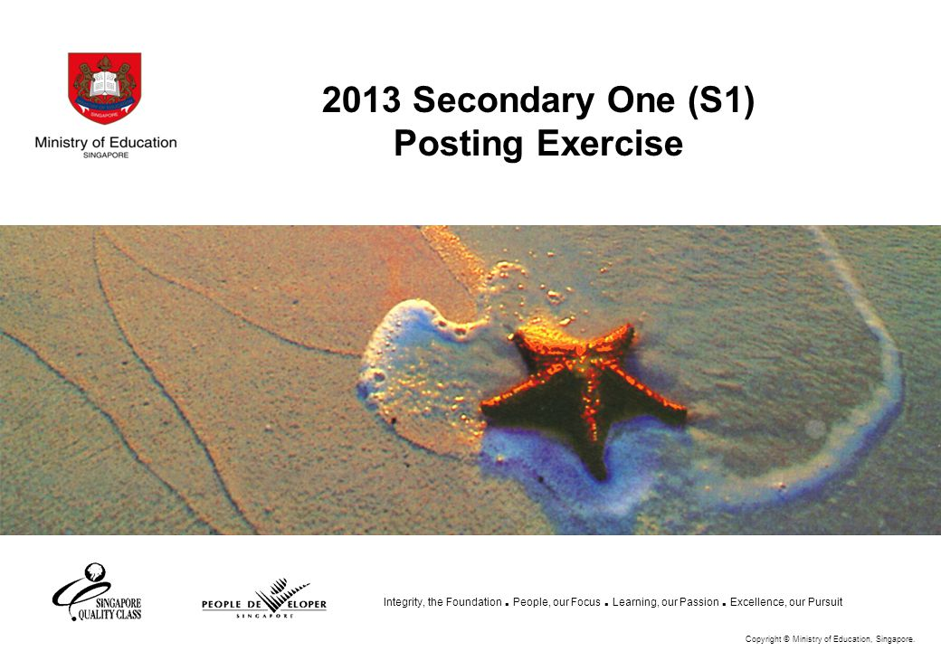 2013 Secondary One (S1) Posting Exercise