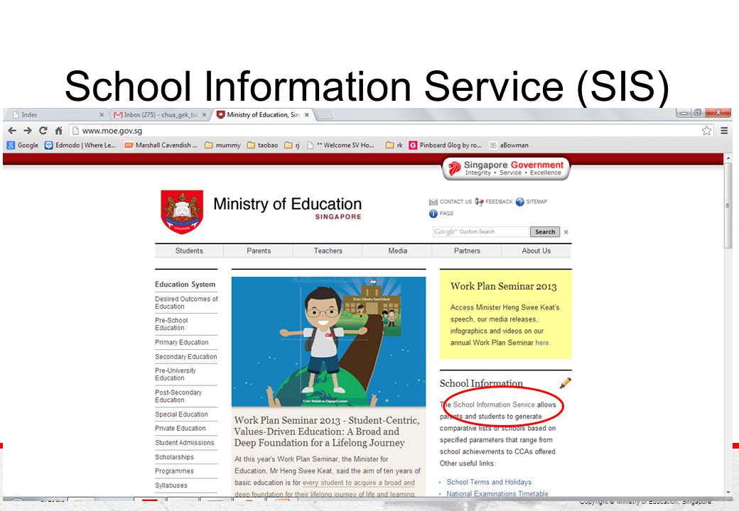School Information Service (SIS)