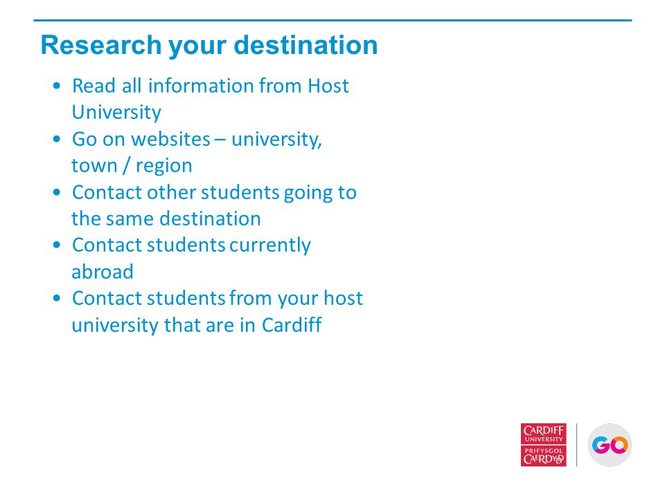 Research your destination
