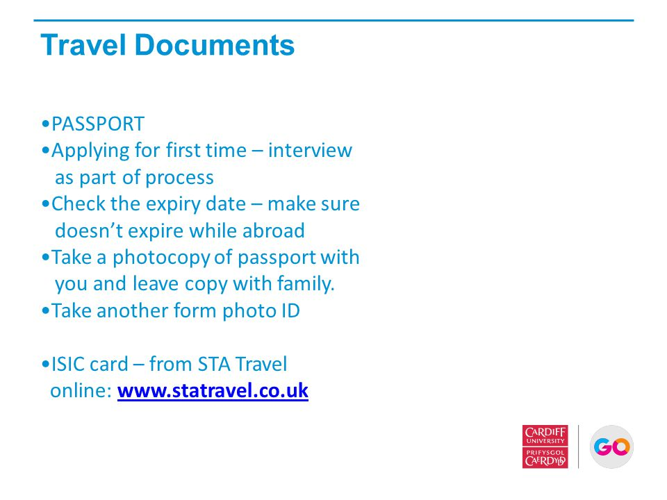 Travel Documents PASSPORT Applying for first time – interview