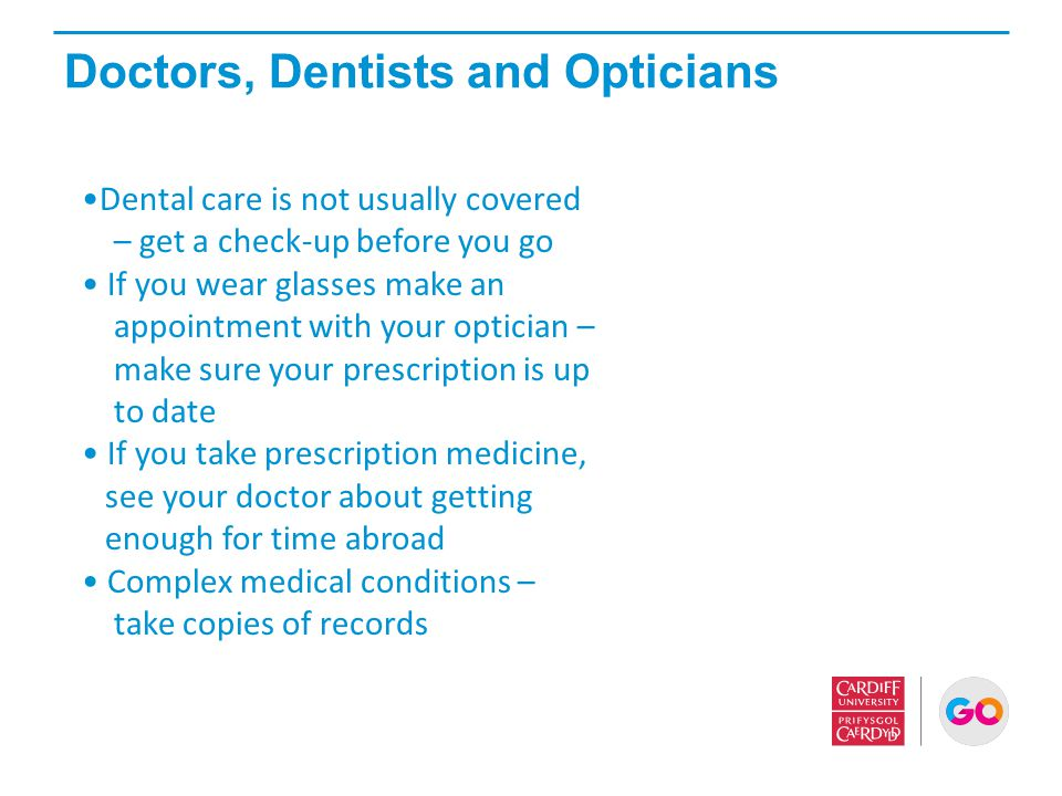 Doctors, Dentists and Opticians