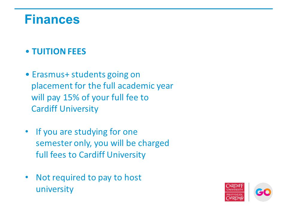 Finances TUITION FEES Erasmus+ students going on