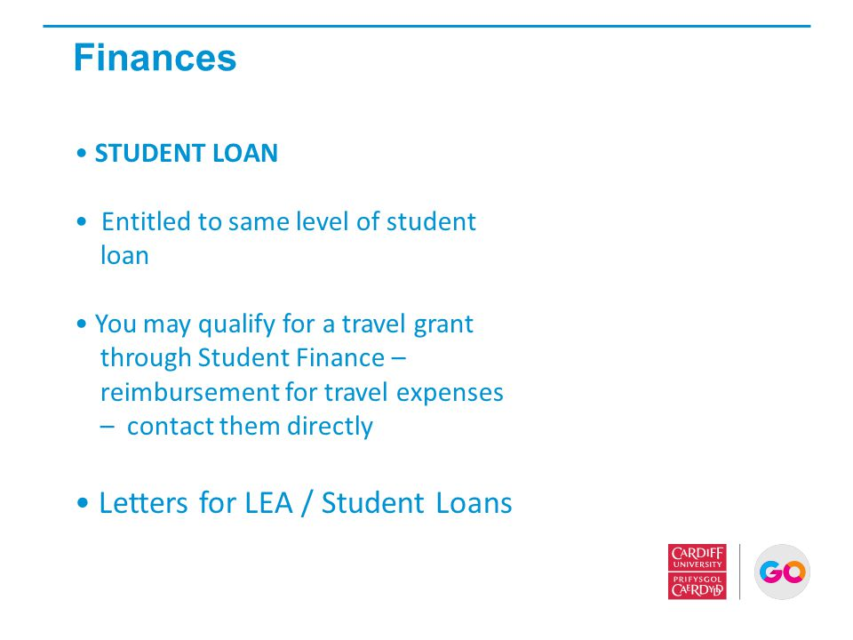 Finances Letters for LEA / Student Loans STUDENT LOAN