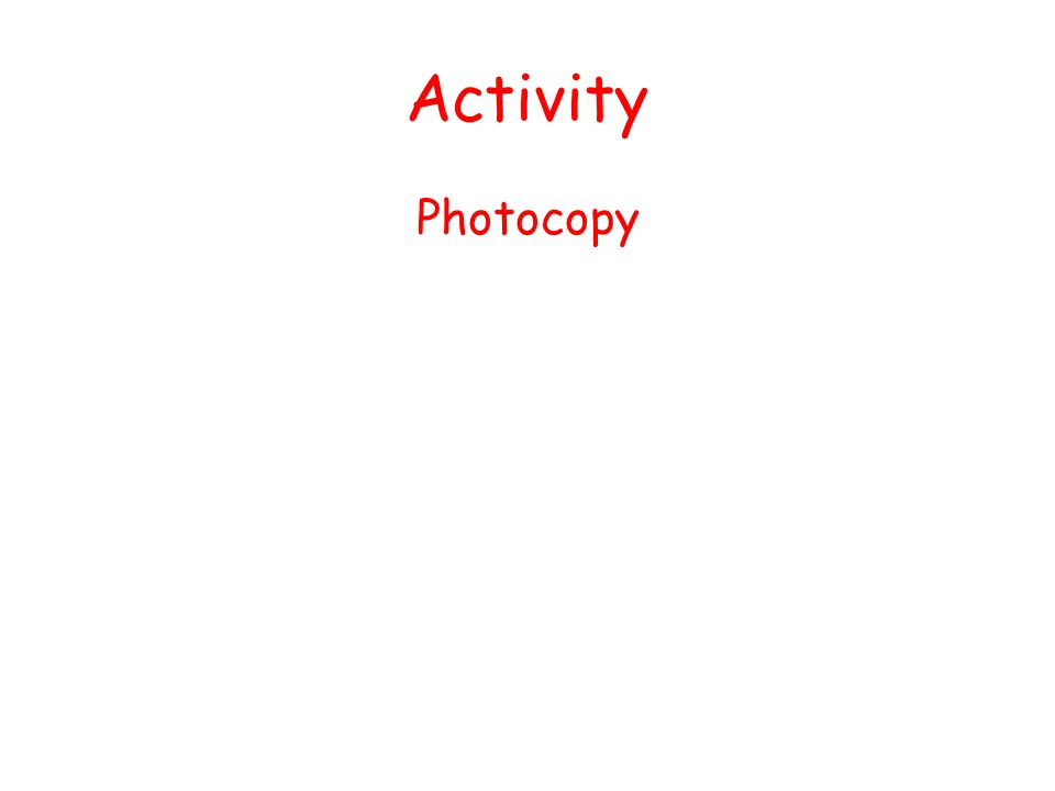 Activity Photocopy