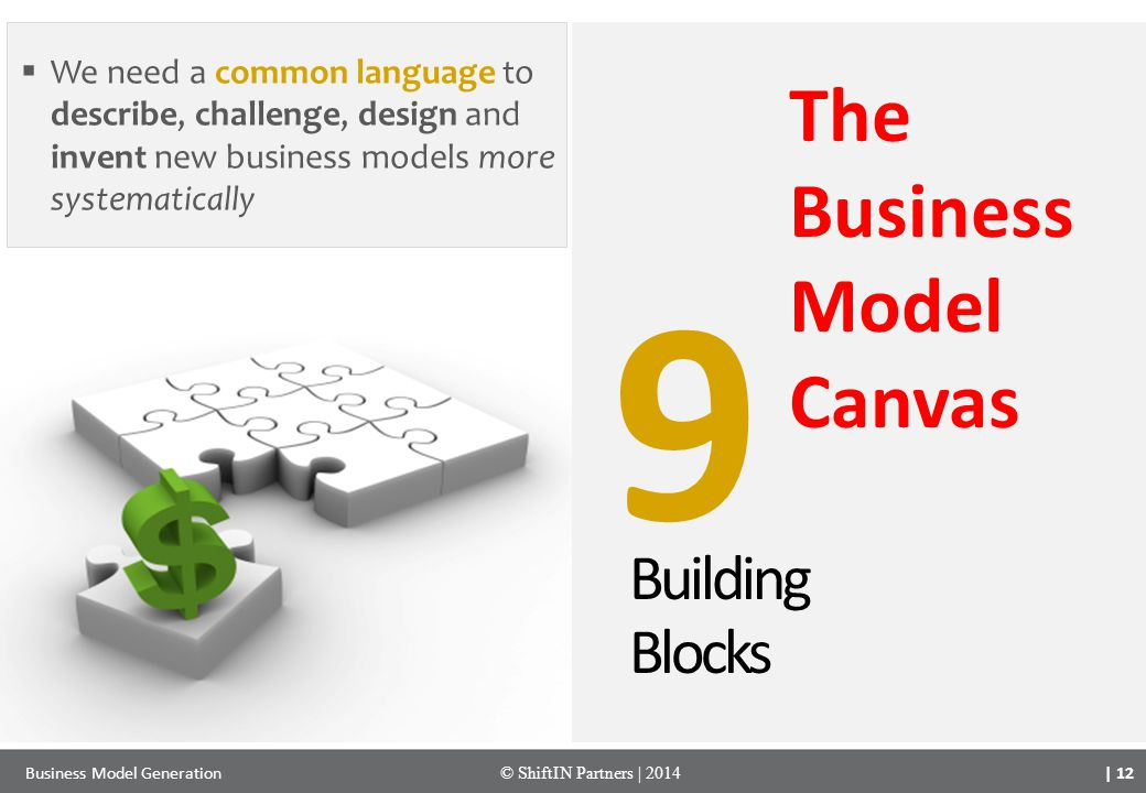 9 The Business Model Canvas Building Blocks