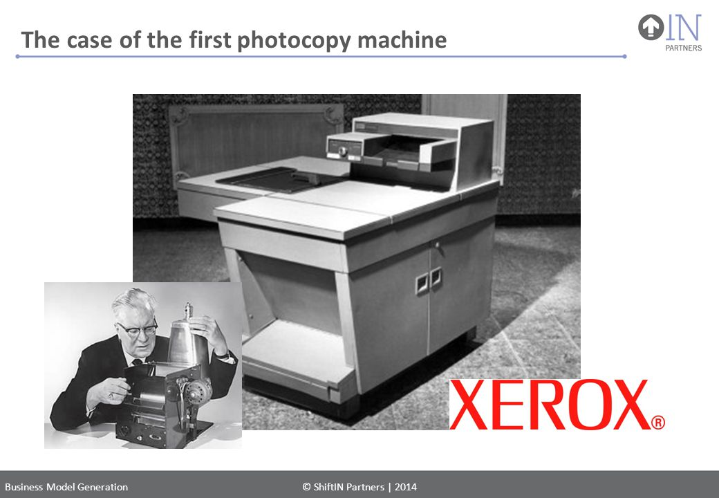 The case of the first photocopy machine
