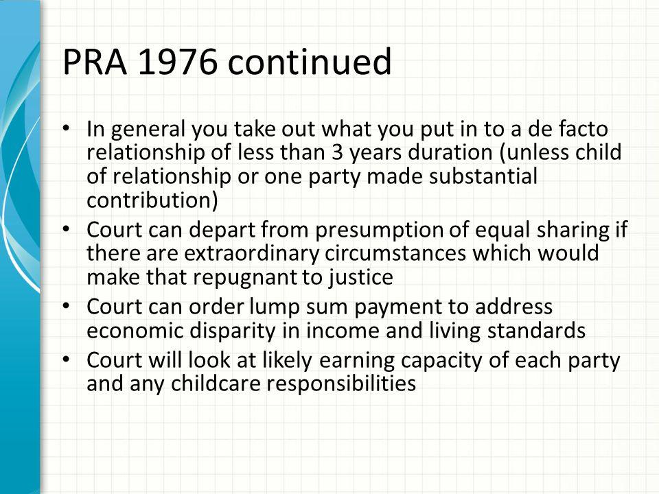 PRA 1976 continued