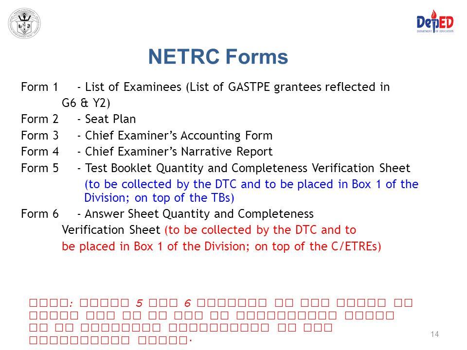 NETRC Forms