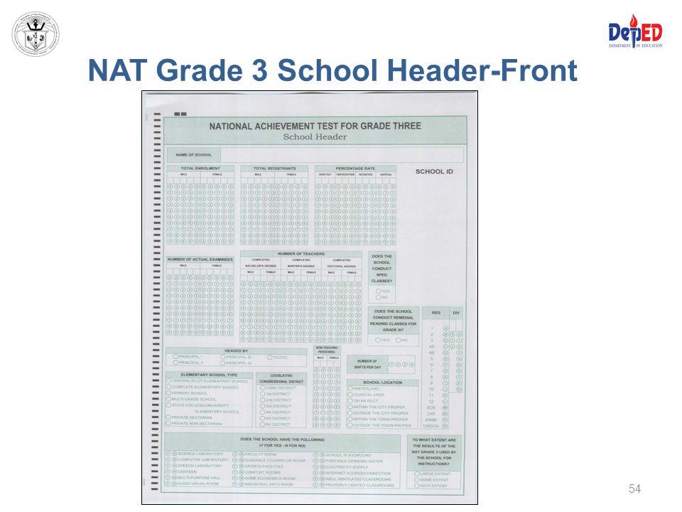 NAT Grade 3 School Header-Front