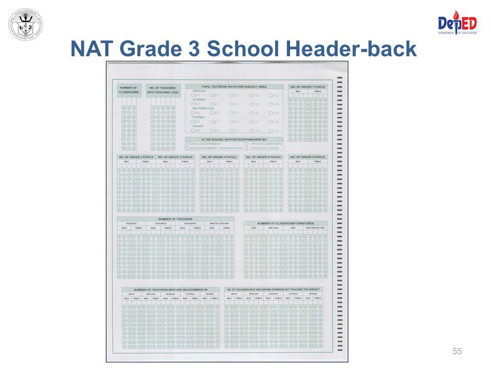 NAT Grade 3 School Header-back