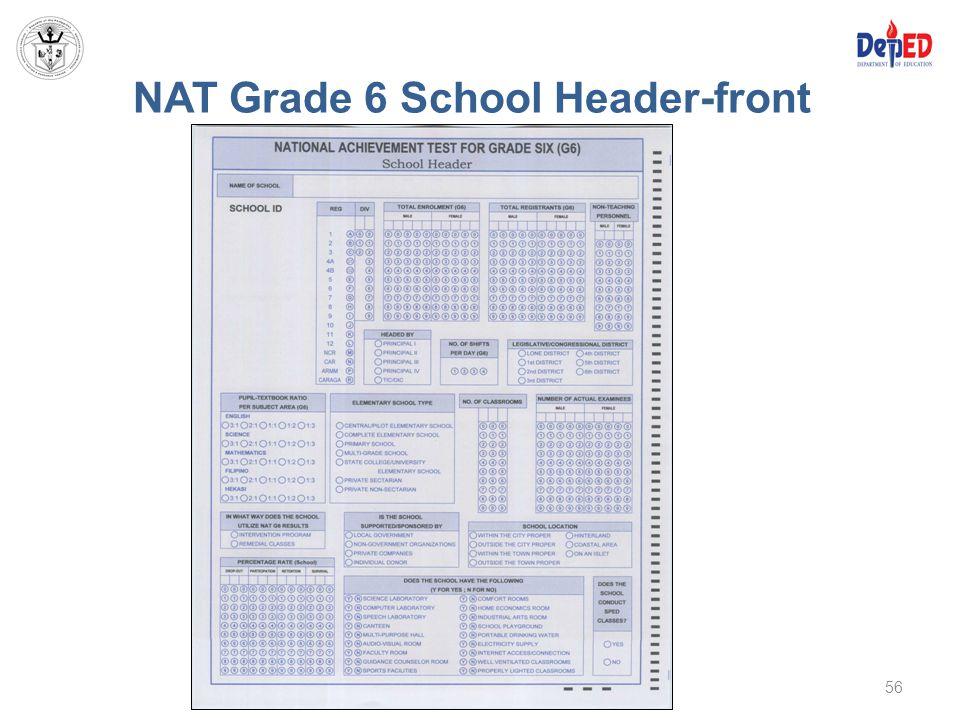 NAT Grade 6 School Header-front