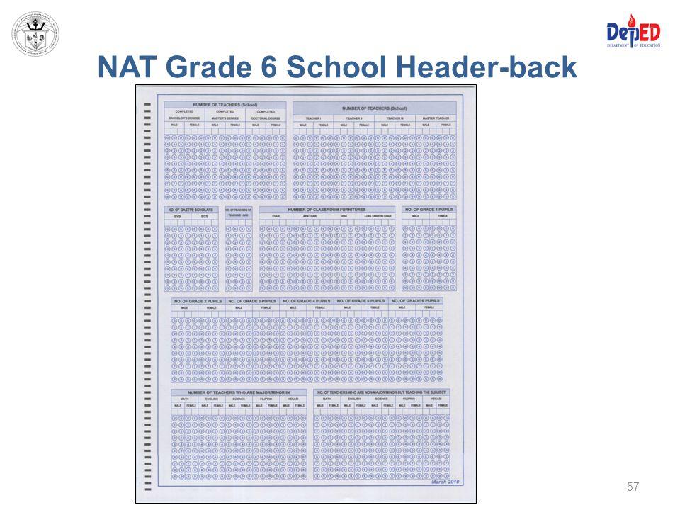 NAT Grade 6 School Header-back