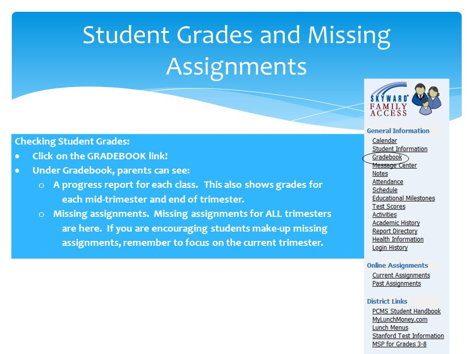 Student Grades and Missing Assignments