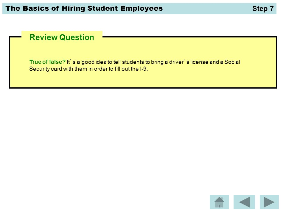 Step 7 Review Question.