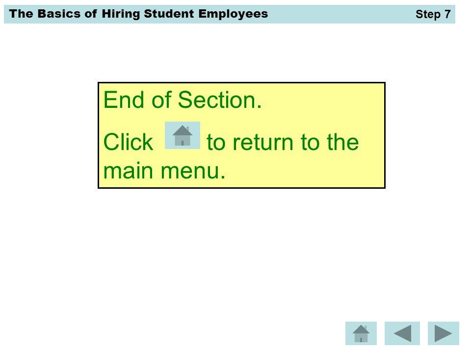Click to return to the main menu.