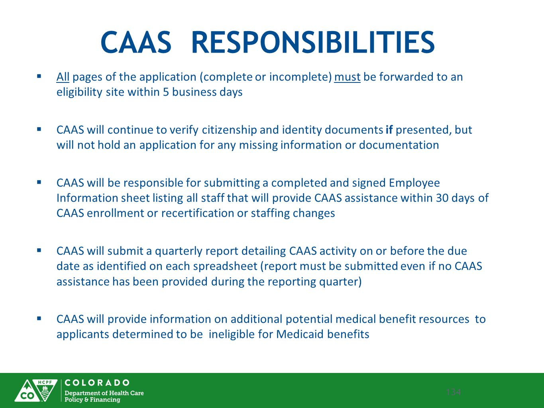 CAAS RESPONSIBILITIES