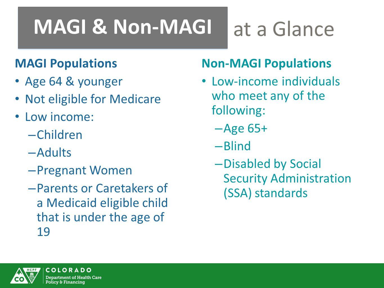 MAGI & Non-MAGI at a Glance