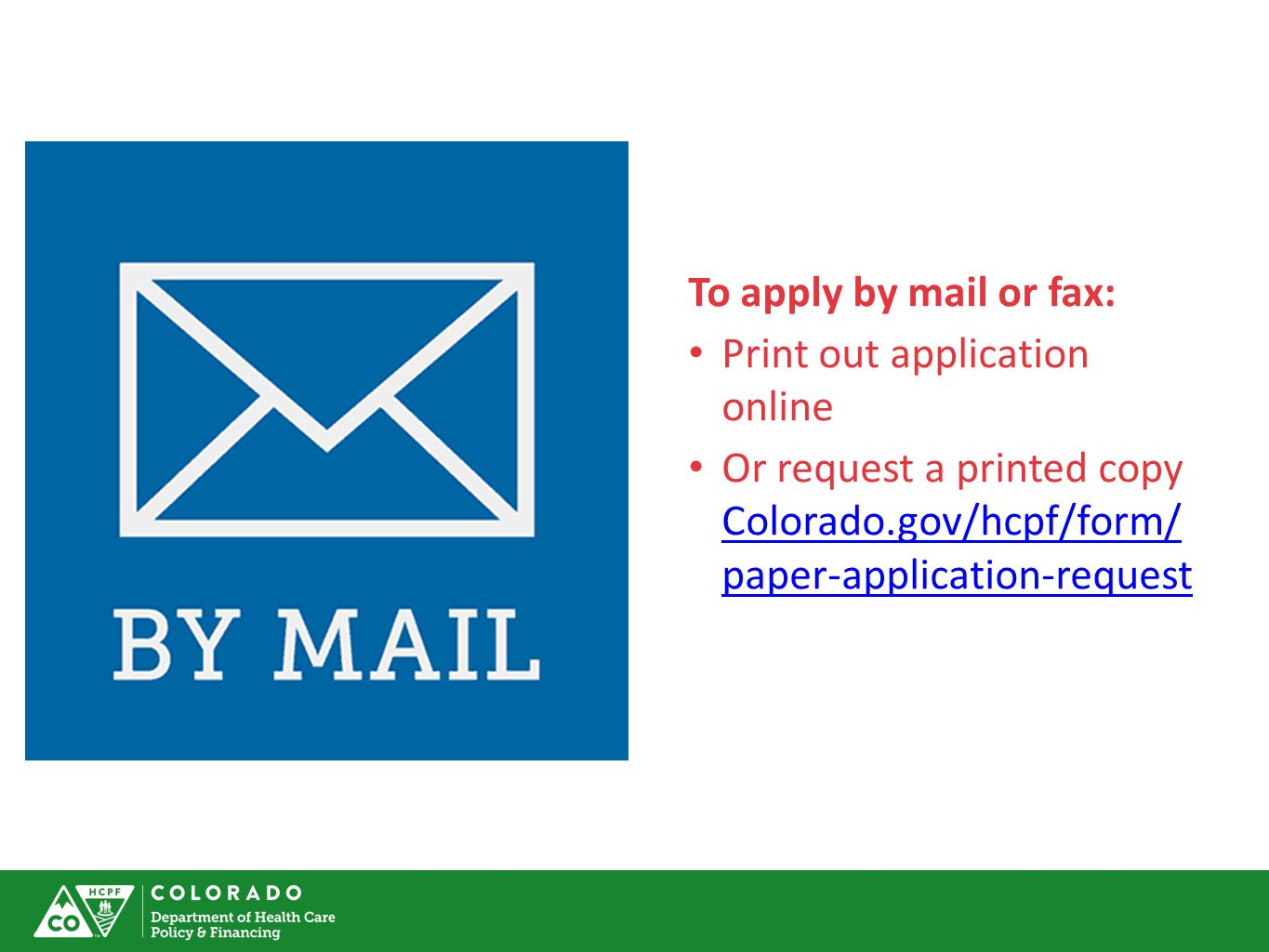To Apply By Mail Or Fax: Print Out Application Online