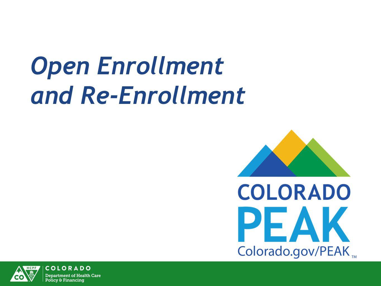 Open Enrollment and Re-Enrollment