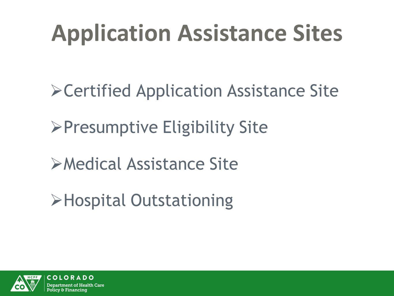 Application Assistance Sites