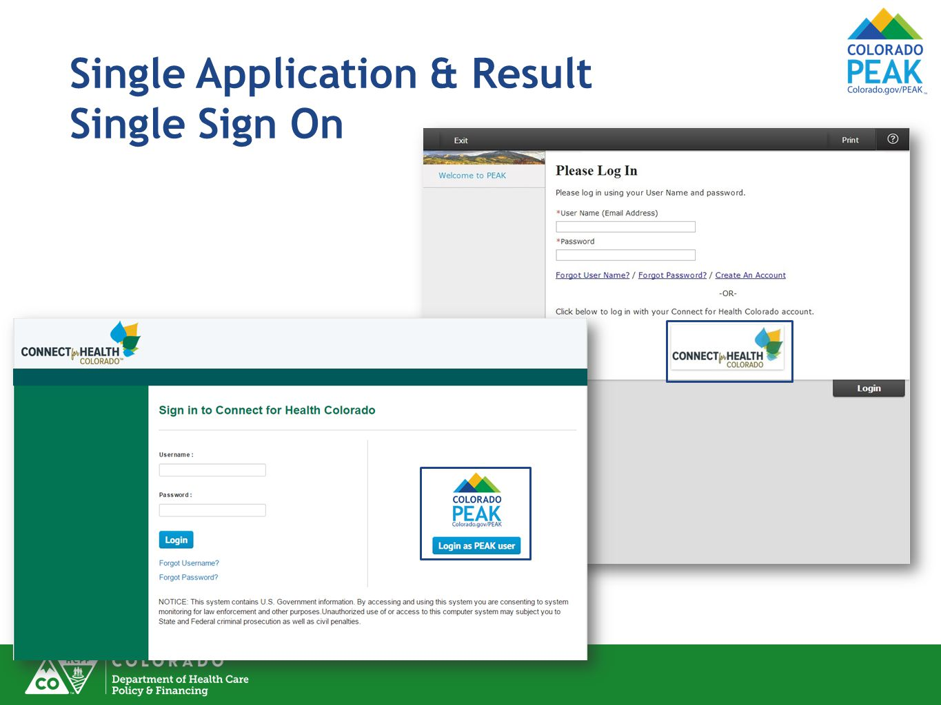 Single Application & Result Single Sign On