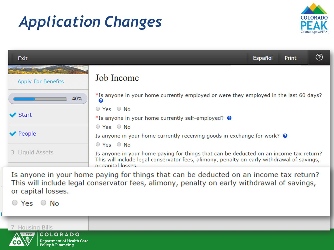 Application Changes Deductions related to Job also, not just Self-Employment.
