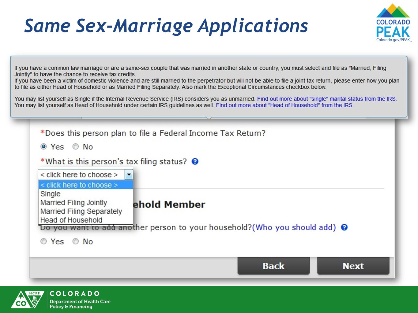 Same Sex-Marriage Applications
