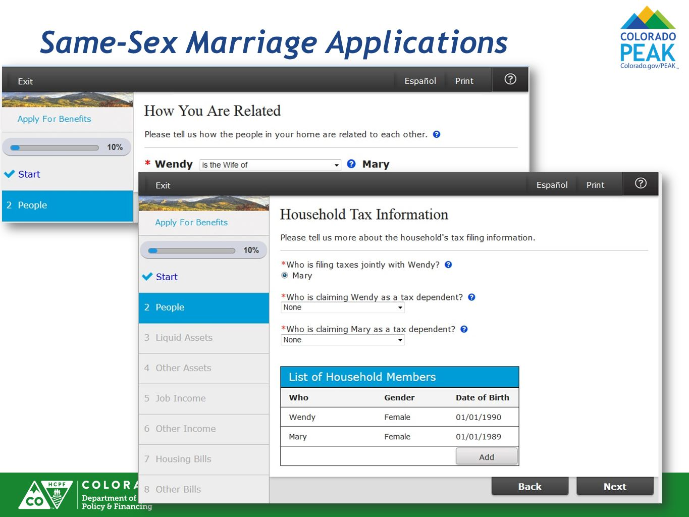 Same-Sex Marriage Applications