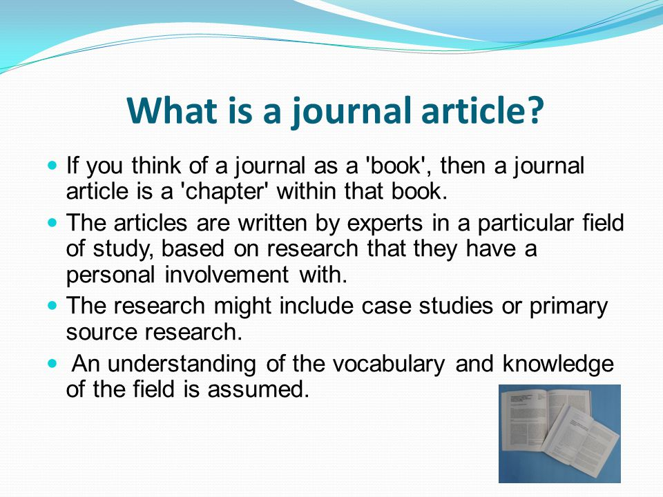 What is a journal article