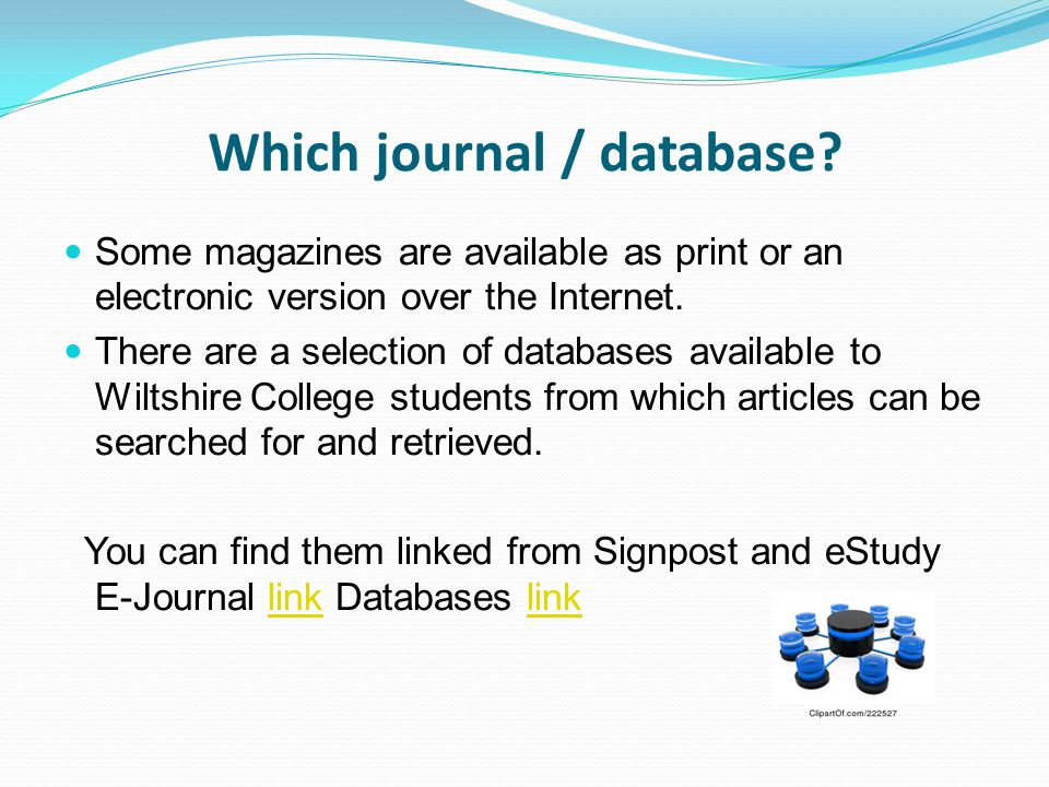 Which journal / database