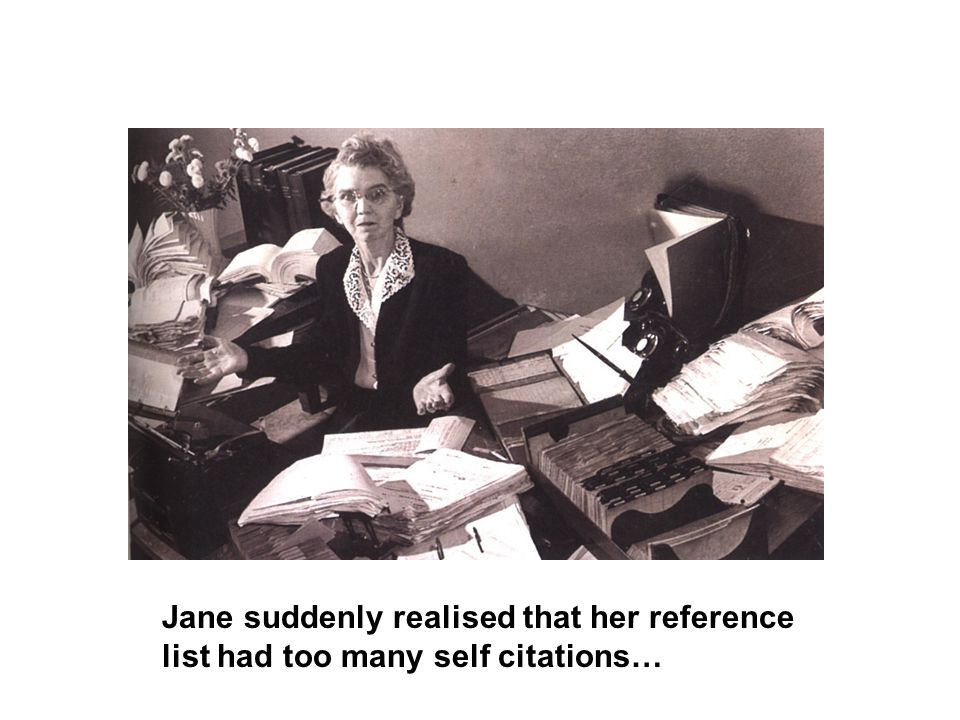 Jane suddenly realised that her reference