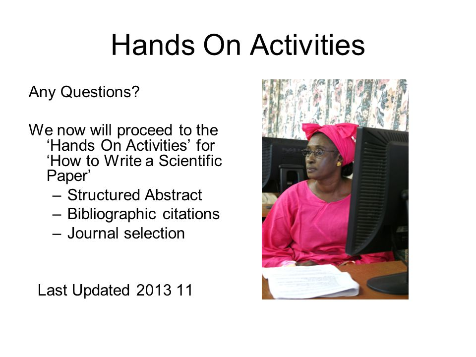 Hands On Activities Any Questions