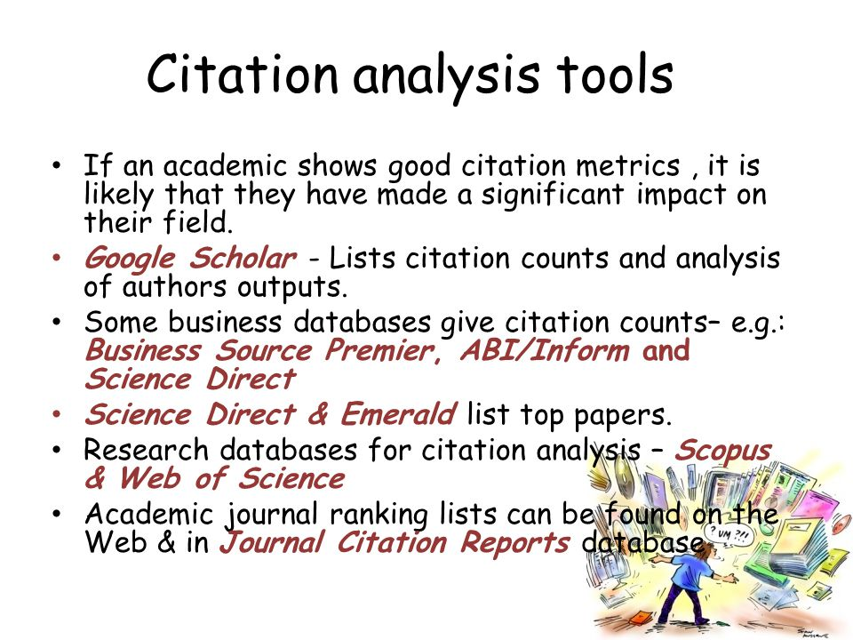 Citation analysis tools