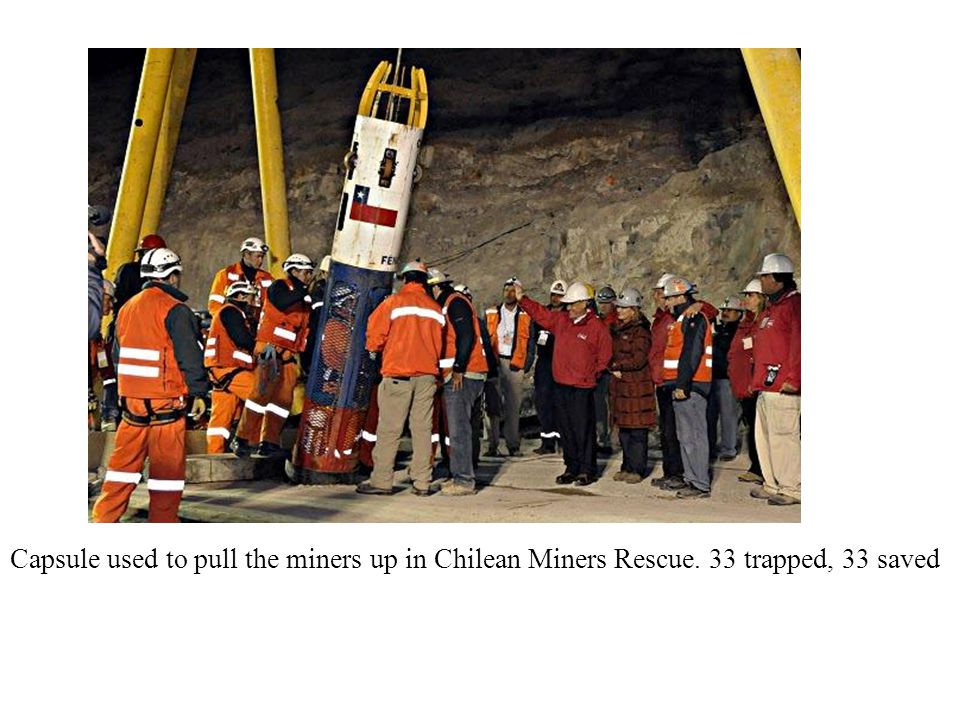 Capsule used to pull the miners up in Chilean Miners Rescue