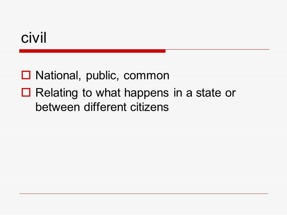 civil National, public, common