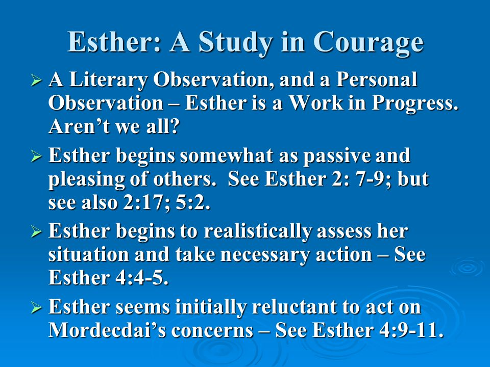 Esther: A Study in Courage