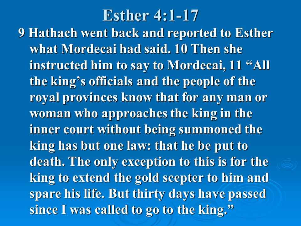 Esther 4:1-17