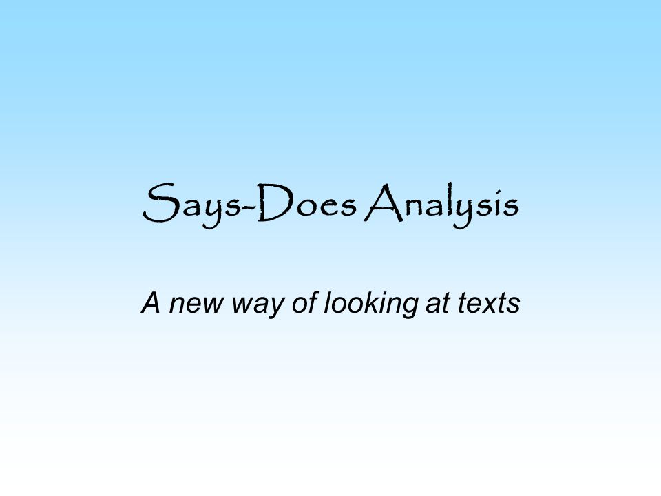 A new way of looking at texts
