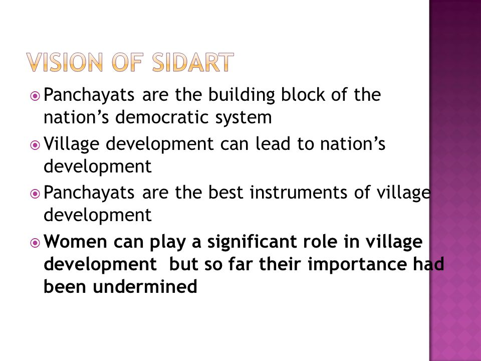 Panchayats are the building block of the nation's democratic system