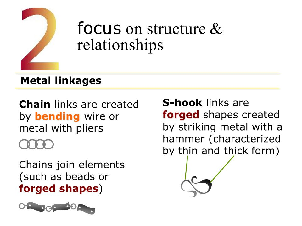 focus on structure & relationships